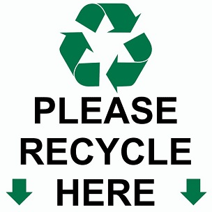 image about Recycling Sign Printable titled Printable Recycling and Trash Signs or symptoms WasteFreeSD WasteFreeSD